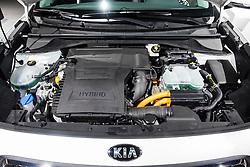 Detail of Kia Niro Hybrid engine at Paris Motor Show 2016