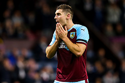 Sam Vokes of Burnley cuts a frustrated figure - Mandatory by-line: Robbie Stephenson/JMP - 30/08/2018 - FOOTBALL - Turf Moor - Burnley, England - Burnley v Olympiakos - UEFA Europa League Play-offs second leg