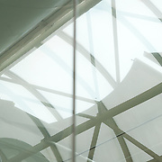 Low angle view of glass ceiling