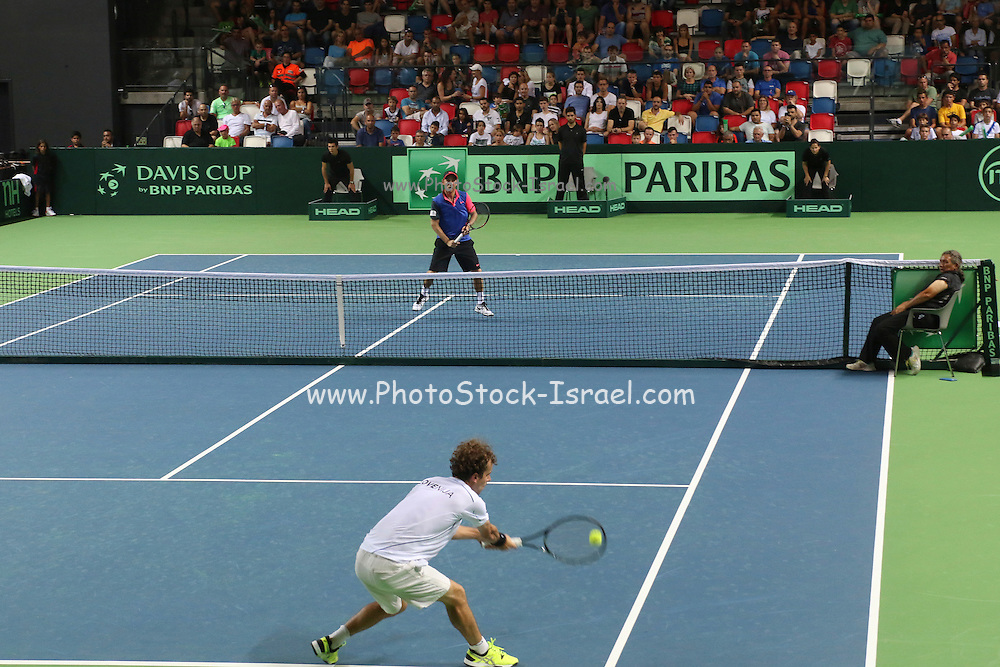 The Davis Cup (Tennis world cup) Israel Vs Slovenia