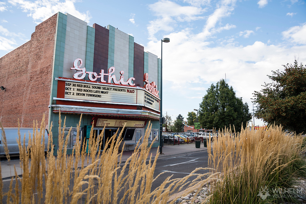 The venue for Red Bull Sound Select Presents Denver at the Gothic Theater in Denver, CO, USA, on 30 September, 2016.