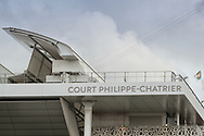 First rooftop wing illustration on Philippe Chatrier stadium during the Roland Garros 2020, Grand Slam tennis tournament, on October 5, 2020 at Roland Garros stadium in Paris, France - Photo Stephane Allaman / ProSportsImages / DPPI