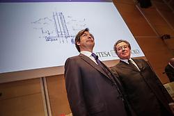 Italy, Turin - April 27, 2018.Shareholders meeting of BANCA INTESA SANPAOLO bank..Carlo Messina and Gian Maria Gros-Pietro (Credit Image: © Lapone/Fotogramma/Ropi via ZUMA Press)
