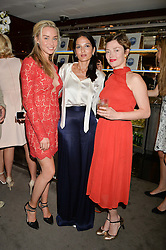 The UK Premier of Johnnie Walker Blue Label's 'Gentleman's Wager' - a short film starring Jude Law was held at The Bulgari Hotel & Residences, 171 Knightsbridge, London on 22nd July 2014.<br /> Picture Shows:-Left to right, NOELLE RENO, YASMIN MILLS and CAMILLA RUTHERFORD.