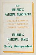 All Ireland Senior Hurling Championship Final,.Brochures,.03.09.1950, 09.03.1950, 3rd September 1950, .Tipperary 1-9, Kilkenny 1-8, .Minor Tipperary v Kilkenny,.Senior Tipperary v Kilkenny, .Croke Park, ..Advertisements, Irish Independent,