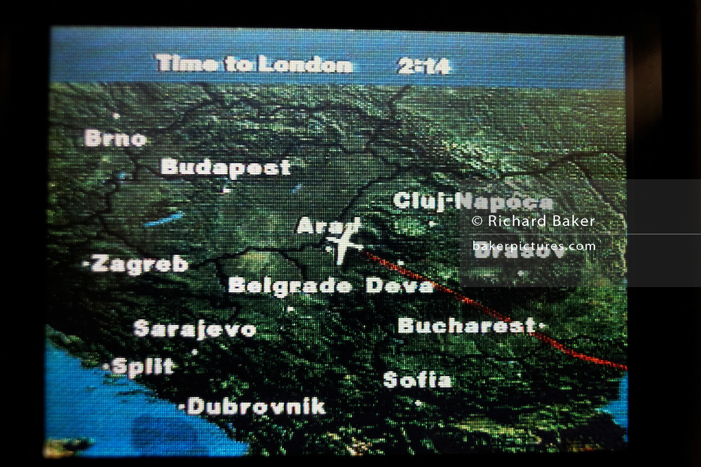 iXPLOR moving map technology gives the air traveller real-time geographical positions on an economy class airline seat.