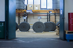 Steel wool cleaners in the factory, Lahr, Baden-Wuerttemberg, Germany