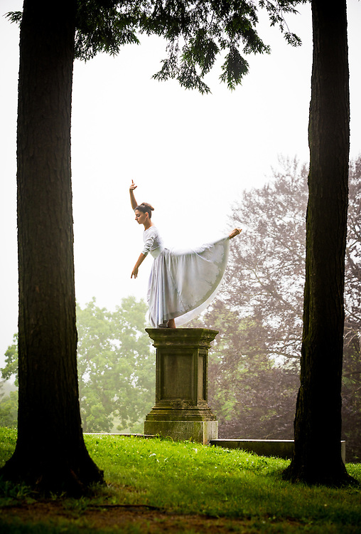 Magdalena Gyftopoulos teacher and dancer with Jose Mateo Ballet Theatre. Photographed in Larz Anderson Park Brookline, MA.