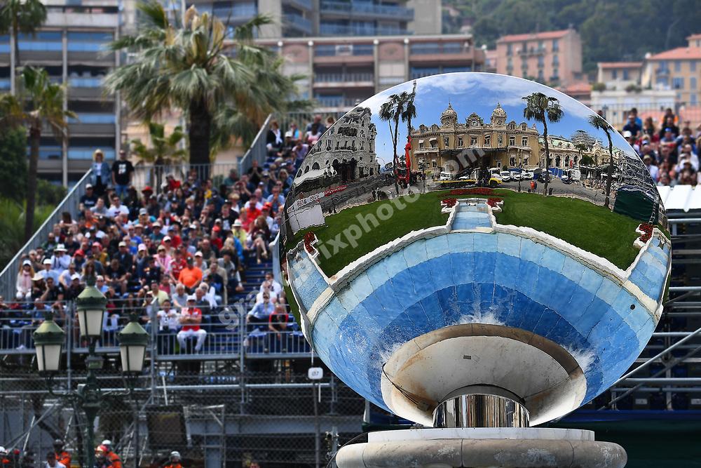 Mirror scene with Casino during practice before the 2019 Monaco Grand Prix. Photo: Grand Prix Photo