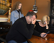 CHICAGO - JANUARY 24:  Former Major League player Jim Thome and his wife, Andrea react after Thome received a phone call from the National Baseball Hall of Fame in Cooperstown, New York, informing him that he has been elected to the Hall of Fame. Jim accepted the call while surrounded by his family, wife Andrea and children Lila Grace and Landon. (Photo by Ron Vesely)  Subject: Jim Thome