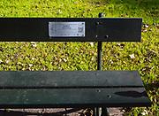 Ławeczka Karola Wojtyły i jesień na krakowskich Plantach, Polska<br /> Autumn in the Cracow Planty and Karol Wojtyla's bench, Poland