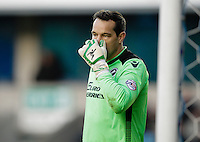 Millwall's David Forde had a tough day, conceding 5 goals<br /> <br /> Photographer Craig Mercer/CameraSport<br /> <br /> Football - The Football League Sky Bet Championship - Millwall v Middlesbrough - Saturday 6th December 2014 - The Den - London<br /> <br /> © CameraSport - 43 Linden Ave. Countesthorpe. Leicester. England. LE8 5PG - Tel: +44 (0) 116 277 4147 - admin@camerasport.com - www.camerasport.com