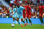 Netherlands forward Ryan Babel (Fulham) is challenged by Portugal midfielder Bernardo Silva (10) during the UEFA Nations League match between Portugal and Netherlands at Estadio do Dragao, Porto, Portugal on 9 June 2019.
