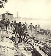 On the 12th of November the railroad and telegraph communications with the rear were broken and the army stood detached from all friends, dependent on its own resources and supplies, from the book ' The Civil war through the camera ' hundreds of vivid photographs actually taken in Civil war times, sixteen reproductions in color of famous war paintings. The new text history by Henry W. Elson. A. complete illustrated history of the Civil war