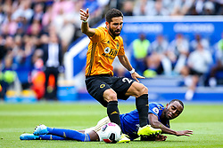 Joao Moutinho of Wolverhampton Wanderers challenges Ricardo Pereira of Leicester City - Mandatory by-line: Robbie Stephenson/JMP - 11/08/2019 - FOOTBALL - King Power Stadium - Leicester, England - Leicester City v Wolverhampton Wanderers - Premier League