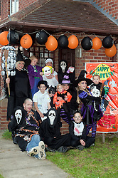 Guinness Northern Counties Housing Associations Godley Street  Scheme Hold a Halloween Street Party 50 Godley Street the Townend Family..30 October 2010 .Images © Paul David Drabble