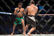 DALLAS, TX - MAY 13:  Yair Rodriguez throws a punch against Frankie Edgar in their featherweight fight during the UFC 211 event at the American Airlines Center on May 13, 2017 in Dallas, Texas. (Photo by Cooper Neill/Zuffa LLC/Zuffa LLC via Getty Images) *** Local Caption *** Yair Rodriguez