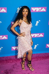 August 21, 2018 - New York City, New York, USA - 8/20/18.SZA at the 2018 MTV Video Music Awards at Radio City Music Hall in New York City. (Credit Image: © Starmax/Newscom via ZUMA Press)