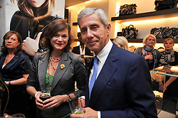 JASMINE GUINNESS and SIR STUART ROSE at a reception hosted by Vogue and Burberry to celebrate the launch of Fashions Night Out - held at Burberry, 21-23 Bond Street, London on 10th September 2009.