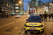 Police Interceptor car parked on Bishopsgate near Liverpool Street in London, England, United Kingdom.