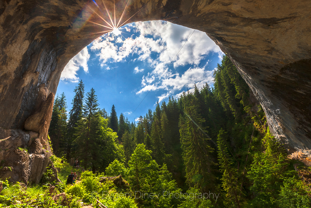 Giant stone arch in Rhodope Mountains