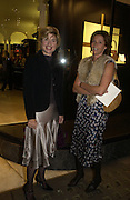 Baroness Isabelle van Randwych and Lucy Clive. The Moneypenny diaries book launch. Smythson, 40 New Bond St. London.  4 October 2005. . ONE TIME USE ONLY - DO NOT ARCHIVE © Copyright Photograph by Dafydd Jones 66 Stockwell Park Rd. London SW9 0DA Tel 020 7733 0108 www.dafjones.com