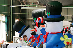 July 6, 2018 - Huaibei, Huaibei, China - Huaibei, CHINA-Workers produce inflatable toys at a factory in Huaibei, east China's Anhui Province. (Credit Image: © SIPA Asia via ZUMA Wire)