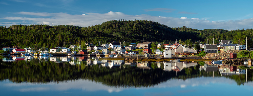 Reflections in the Inner Harbour, Robert's Arm, Newfoundland and Labrador NL, Canada