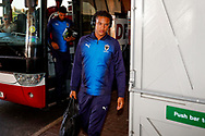Wimbledon defender Toby Sibbick (20) arrives during the EFL Sky Bet League 1 match between Blackpool and AFC Wimbledon at Bloomfield Road, Blackpool, England on 20 October 2018.