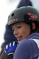 Snowboard, NM snøbrett halfpipe Geilo mars 2000. Stine Brun Kjeldaas.