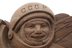 May 24, 2017 - Saint Petersburg, Russia - May 24, 2017. - Russia, Saint Petersburg. - Preparations for the 'Great Russia' Festival of Sand Sculptures 2017 on a beach of the Peter and Paul Fortress. (Credit Image: © Russian Look via ZUMA Wire)