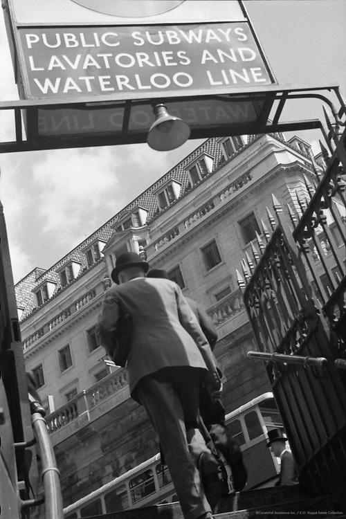 Underground Station, London, England, 1937