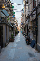 side street of Shanghai in republic popular of China