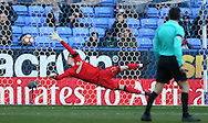 Aaron Ramsdale of Sheffield Utd can't do anything about the second goal during the FA Cup Second round match at the Macron Stadium, Bolton. Picture date: December 4th, 2016. Pic Simon Bellis/Sportimage