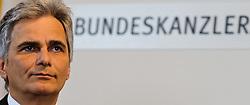 13.04.2011, Bundeskanzleramt, Wien, AUT, Stellungnahme Bundeskanzler wegen Rücktritt Josef Proells, im Bild Bundeskanzler Werner Faymann // during Press Conference about recession of minister of finance Josef Proell, AUT, Vienna, Federal Chancellery, 04-13-2011,  EXPA Pictures © 2011, PhotoCredit: EXPA/ M. Gruber