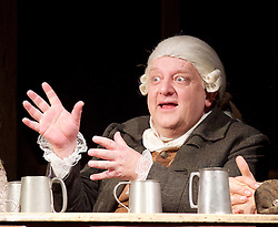Mr Foote's Other Leg <br /> by Ian Kelly <br /> at Theatre Royal Haymarket, London, Great Britain <br /> press photocall<br /> 30th October 2015 <br /> <br /> <br /> <br /> Simon Russell Beale as Samuel Foote <br /> <br /> <br /> Photograph by Elliott Franks <br /> Image licensed to Elliott Franks Photography Services