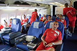 A equipe do S.C. Internacional no vôo com charter para os Emirados Árabes. O S.C. Internacional participa de 8 a 18 de dezembro do Mundial de Clubes da FIFA, em Abu DhabiFOTO: Jefferson Bernardes/Preview.com