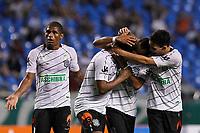 20120527: RIO DE JANEIRO, BRAZIL - Figueirense teamates celebrates Pablo goal during Fluminense vs Figueirense team match for Brazilian Championship. <br /> PHOTO: CITYFILES