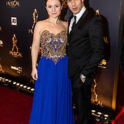 NLD/Utrecht/20170112 - Musical Awards Gala 2017, Celine Purcell en partner Oren Schrijver