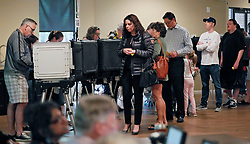 A steady steam of people vote at the St Mary's Orthodox Church in Roswell.Photo by Bob Andres/Atlanta Journal-Constitution/TNS/ABACAPRESS.COM