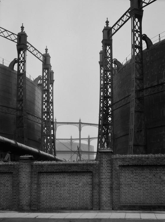 Gasometers, London, England, 1929