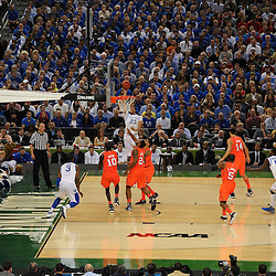 Mar 31, 2012; New Orleans, LA, USA; Kentucky Wildcats forward Anthony Davis (23) shoots against the Louisville Cardinals during the second half in the semifinals of the 2012 NCAA men's basketball Final Four at the Mercedes-Benz Superdome. Mandatory Credit: Derick E. Hingle-US PRESSWIRE