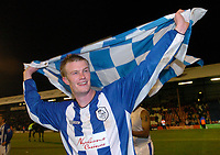 Fotball<br /> England 2004/2005<br /> Foto: SBI/Digitalsport<br /> NORWAY ONLY<br /> <br /> League One - Play off Semi Final<br /> Brentford v Sheffield Wednesday<br /> 16th May, 2005<br /> Sheffield Wednesdays Chris Brunt celebrates after the game.
