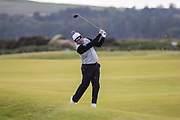 5th October 2017, The Old Course, St Andrews, Scotland; Alfred Dunhill Links Championship, first round; Lee Westwood clears his ball from the fairway on the fifth