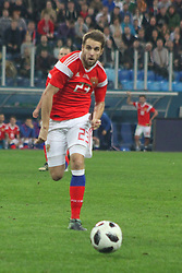 November 14, 2017 - Saint Petersburg, Russia - Of The Russian Federation. Saint-Petersburg. Arena Saint Petersburg, Zenit-arena. Friendly Match. The football world Cup. Team Russia Vs Team Spain. 3:3. Player Dmitry Kombarov. (Credit Image: © Russian Look via ZUMA Wire)