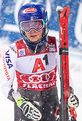 08.01.2019, Hermann Maier Weltcupstrecke, Flachau, AUT, FIS Weltcup Ski Alpin, Slalom, Damen, 2. Lauf, im Bild Mikaela Shiffrin (USA, 2. Platz) // second placed Mikaela Shiffrin of the USA reacts after her 2nd run of ladie's Slalom of FIS ski alpine world cup at the Hermann Maier Weltcupstrecke in Flachau, Austria on 2019/01/08. EXPA Pictures © 2019, PhotoCredit: EXPA/ Johann Groder