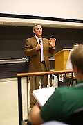 Author John Grisham visited Larry Sabato's class to discuss his breif time in politics before becoming a best selling author Monday at the University of Virginia.