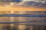 Grand Strand Morning sun over calm ocean