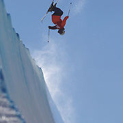 Kiyoshi Terada, Japan, in action in the Halfpipe Finals during The North Face Freeski Open at Snow Park, Wanaka, New Zealand, 3rd September 2011. Photo Tim Clayton..