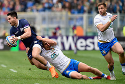 March 17, 2018 - Rome, Italy - Sean Maitland of Scotland during the NatWest 6 Nations Championship match between Italy and Scotland at Stadio Olimpico, Rome, Italy on 17 March 2018. (Credit Image: © Giuseppe Maffia/NurPhoto via ZUMA Press)